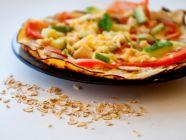 كم عدد السعرات الحرارية في بيتزا الشوفان؟