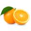 حبتان من البرتقال كبيرة الحجم.