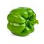 حبة من الفلفل الأخضر المقطّع لشرائح رقيقة.