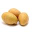 ست حبات من البطاطا المقطعة لدوائر رفيعة.